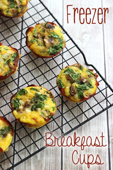 Make Ahead Breakfast Cups: An easy breakfast freezer meal #glutenfree #freezercooking
