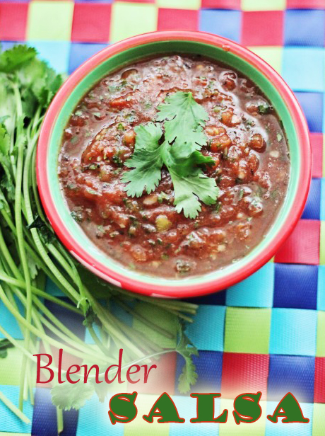 This blender salsa recipe makes salsa so easy! It tastes like a Mexican restaurant copycat recipe.  The minimal prep work makes it the perfect party food or appetizer