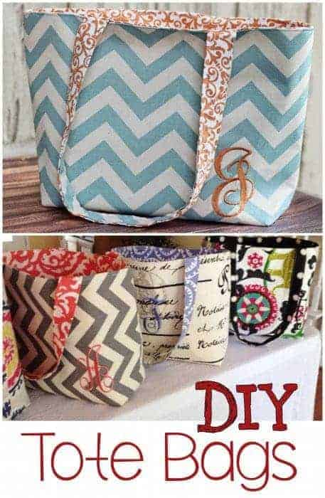 Need DIY tote bag ideas? Try this handmade tote bag pattern for an easy DIY tote bag. This easy tote bag pattern is perfect for beginners advanced sewers.