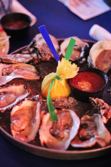 raw oysters on the halfshell