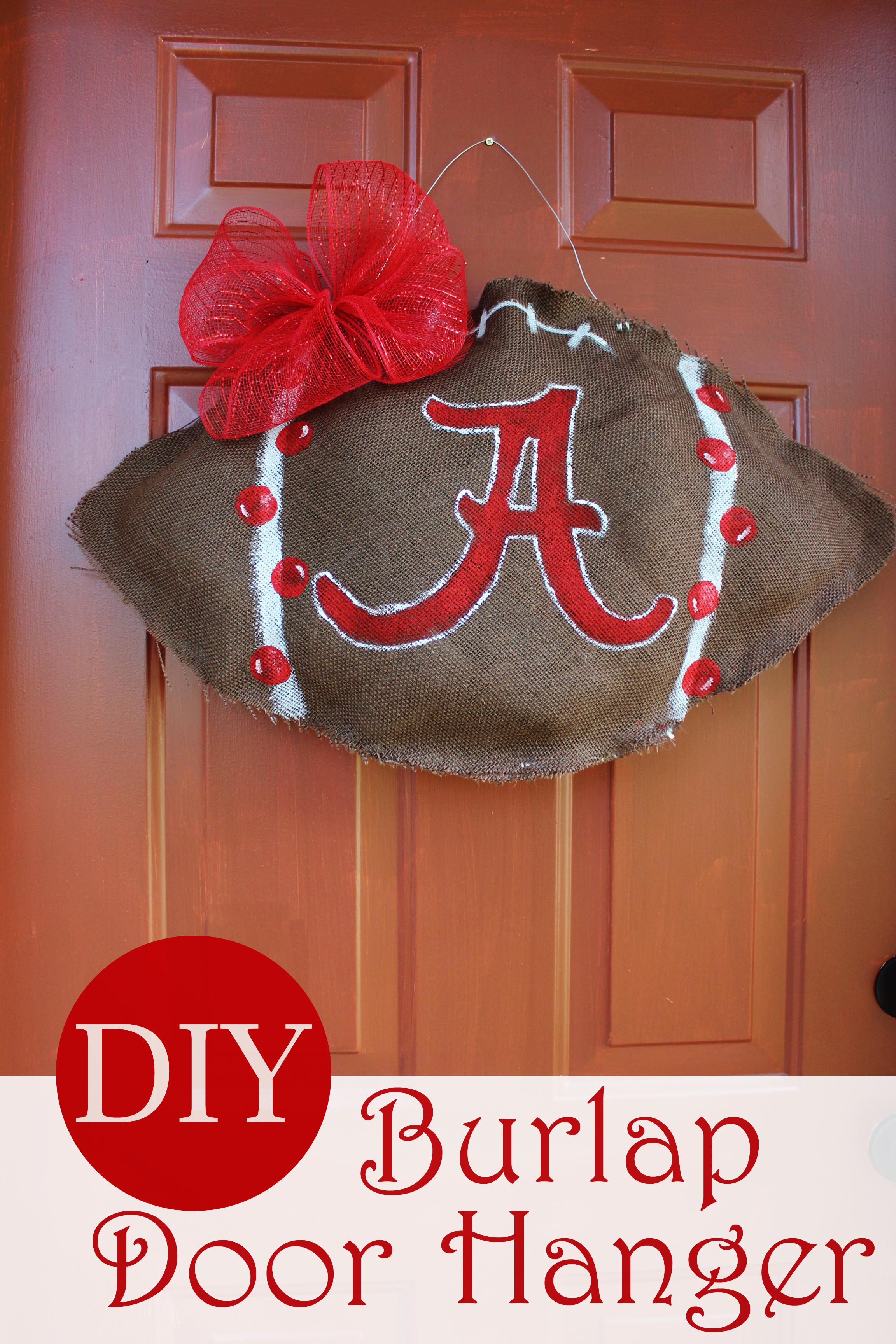 Diy Burlap Door Hanger Sweet T Makes Three
