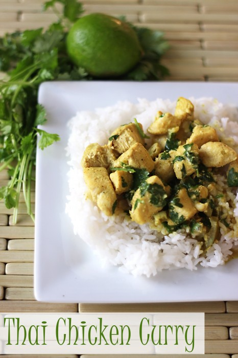 This Thai Chicken Curry makes gluten free dinner that you'll want to serve over and over again. Leave out the rice and it makes a paleo recipe.