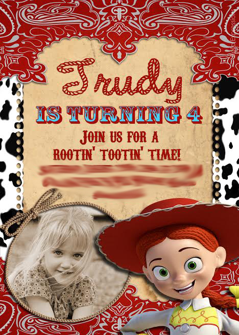 Toy Story Jessie Invitation