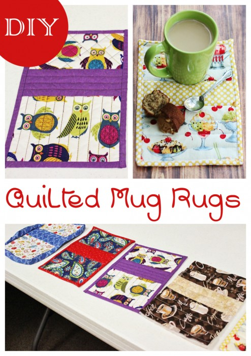 DIY Quilted Mug Rugs #diy #sewing