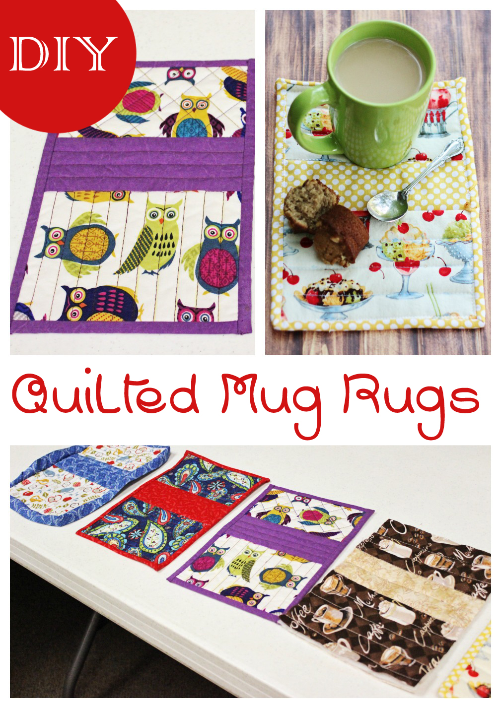 Diy Quilted Mug Rugs Sweet T Makes Three