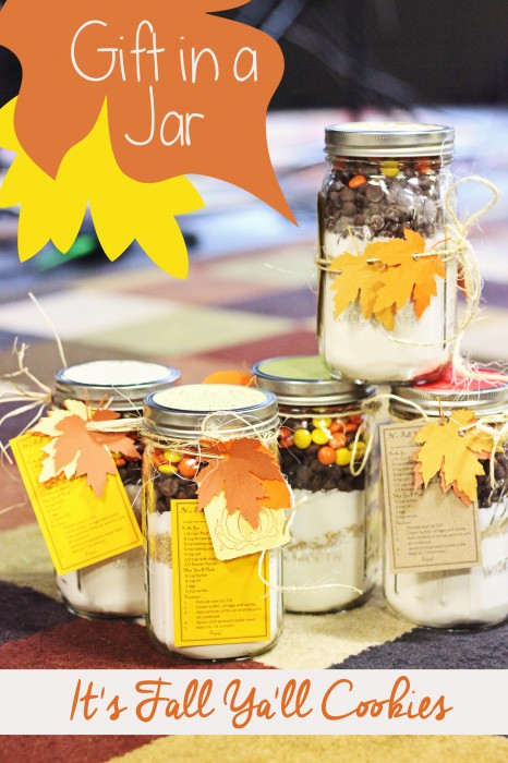 Gift in a Jar It's Fall Ya'll Cookies #fall #gift