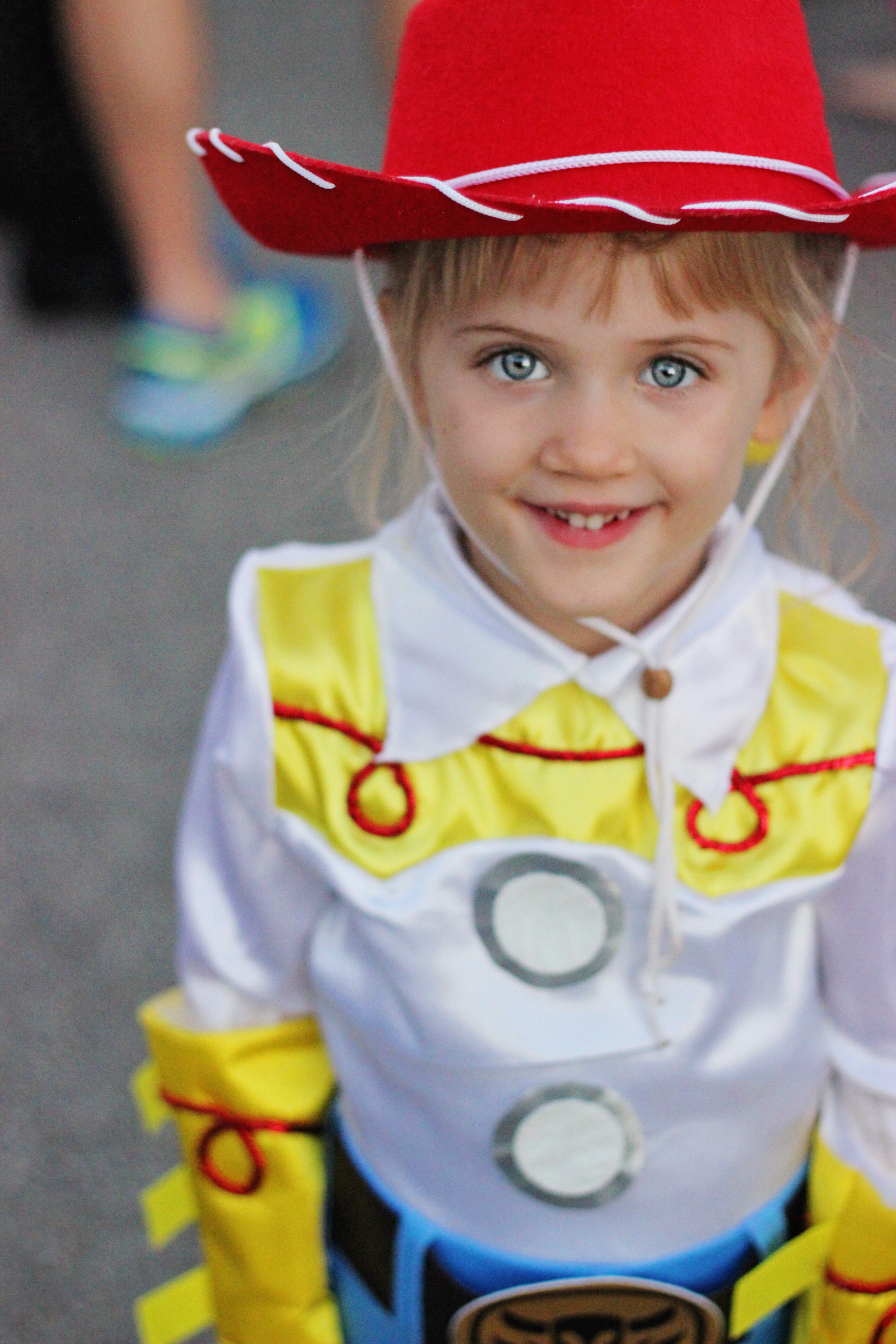 She got loads of attention in her Jessie costume last Friday night and would grin and glow each time someone said u201cHey Jessie!  sc 1 st  Sweet T Makes Three & Family Halloween Costume Idea: Toy Story Theme | Sweet T Makes Three