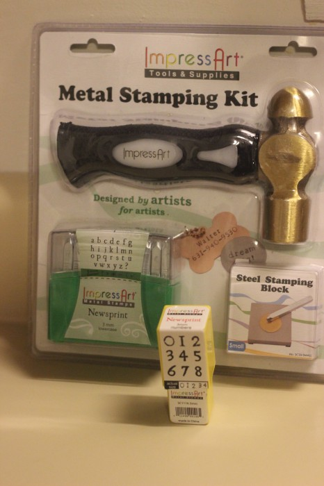how to get started metal stamping kit