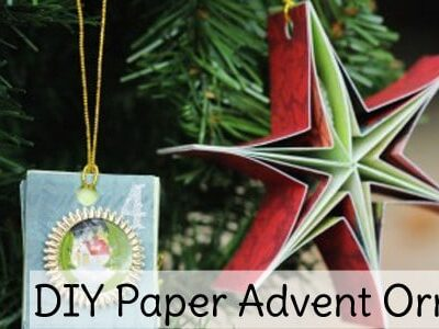 DIY Paper Advent Ornaments Slider