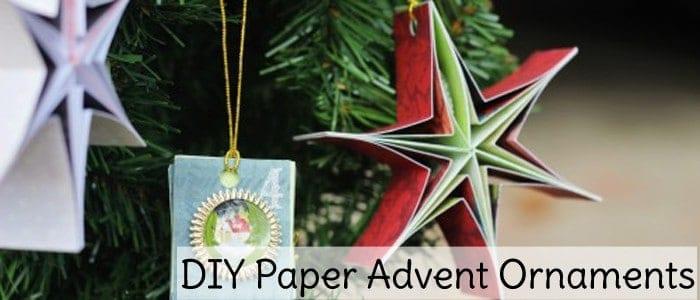 DIY Paper Advent Ornaments Slider