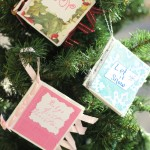 DIY Photo Album Christmas Ornaments
