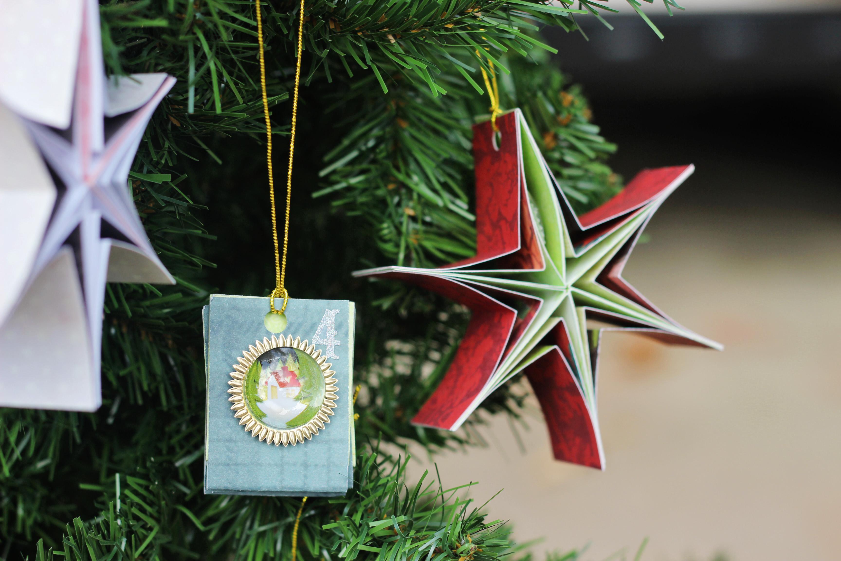 DIY Paper Ornaments Make a Unique Advent Calendar!