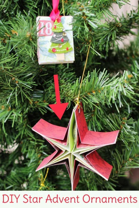 Make an advent calendar out of these crafty paper ornaments