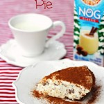 This Frozen Eggnog Pie is so quick and easy. Perfect for the busy holiday season. Bring it to a holiday party when you are short on time (or inclination, ha!)