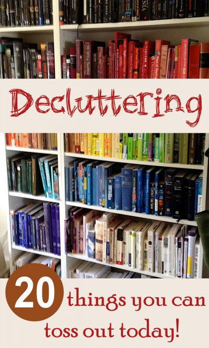 Decluttering tips 20 things to toss out now sweet t - How to declutter your bedroom fast ...