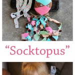"DIY ""Socktopus"" All you need is a sock, some filling (cotton balls will work!) craft glue and googly eyes. Fun rainy day craft to do with kids!"
