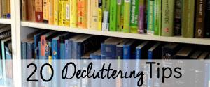 20 decluttering tips