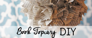 Book Topiary DIY