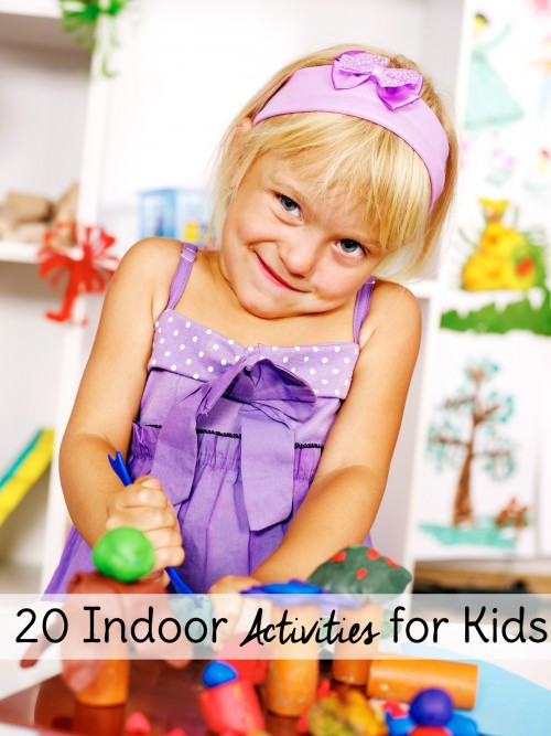 Boredom Busters! Use these indoor activities for kids to make sure no one goes stir crazy. 20 rainy day activities to choose from! #19 is genius.
