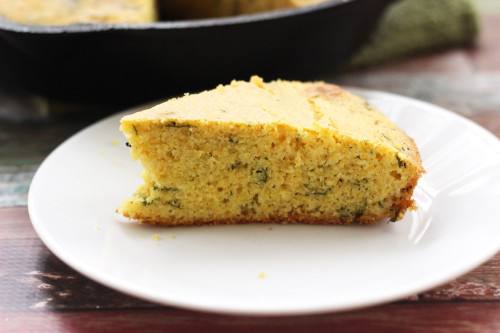 Learn how to make southern style skillet cornbread with this easy cornbread recipe. The addition of cilantro gives this cornbread a southwest twist!