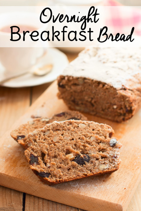 Looking for breakfast ideas for a quick breakfast on the go? Try this overnight breakfast bread and get out the door on time in the morning!