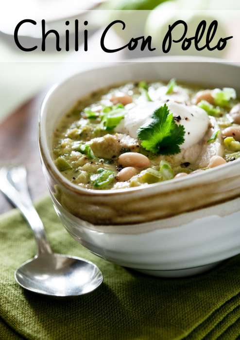 This white chicken chili was born from trying to save a trip to the grocery store.  Try this easy chili recipe for dinner tonight!