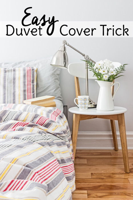 Try this quick and easy bedroom DIY to keep duvet covers in their place!