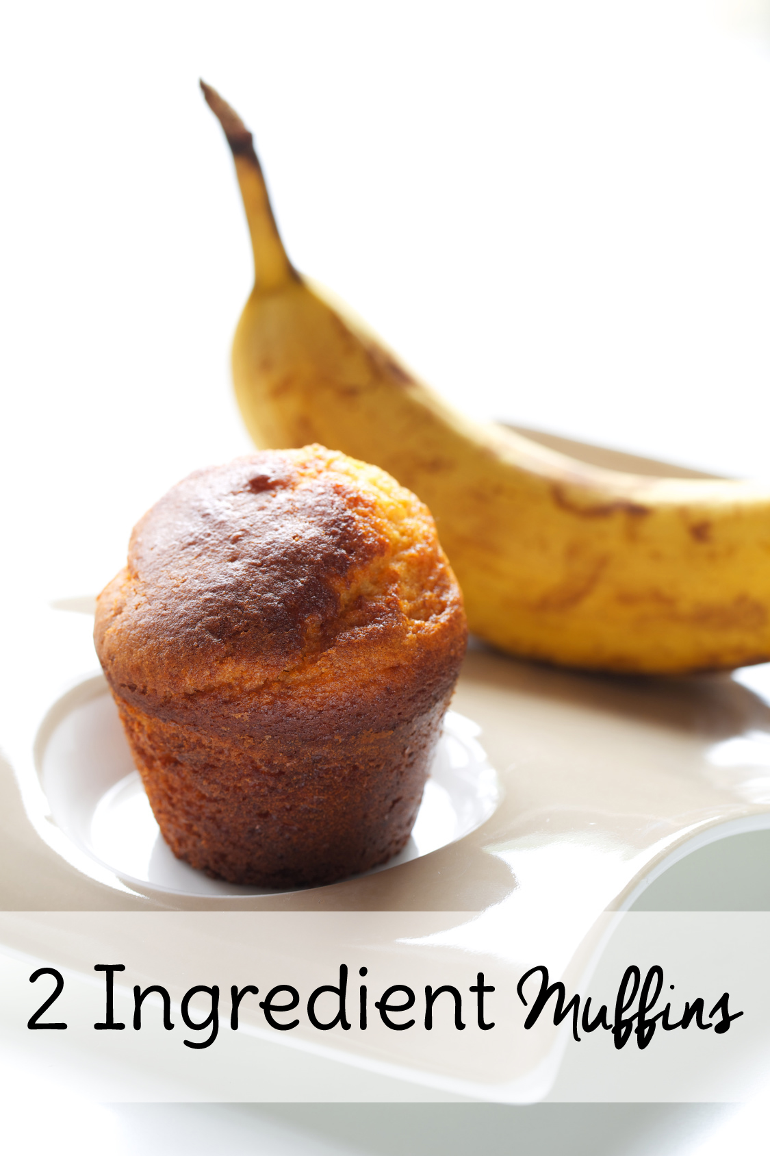 2 Ingredient Banana Muffins Sweet T Makes Three