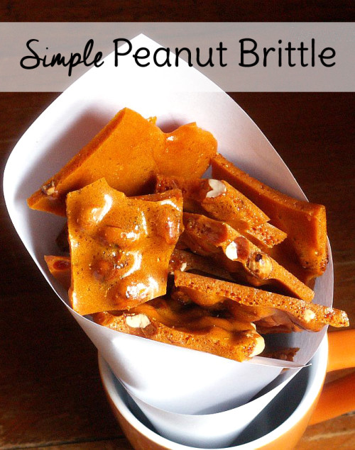 This microwave peanut brittle recipe makes a fantastic dessert recipe for parties. You can even give a peanut brittle gift this holiday season when you're making Christmas cookies. Done in 15 minutes!