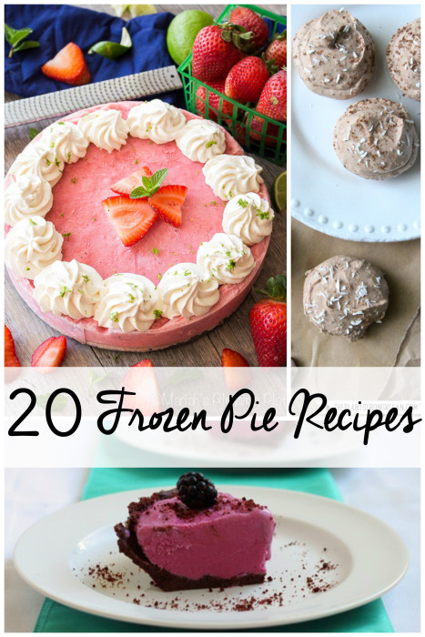 Stay cool with these 20 Frozen Pie Recipes. Summer dessert recipes that won't heat up your house to make!