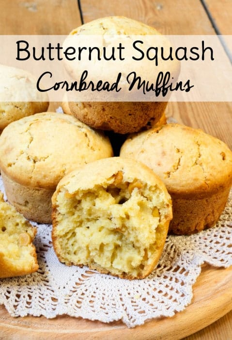 If you need a butternut squash muffin recipe to use up your gardening bounty, try these Butternut Squash Cornbread muffins. They are moist and delicious!