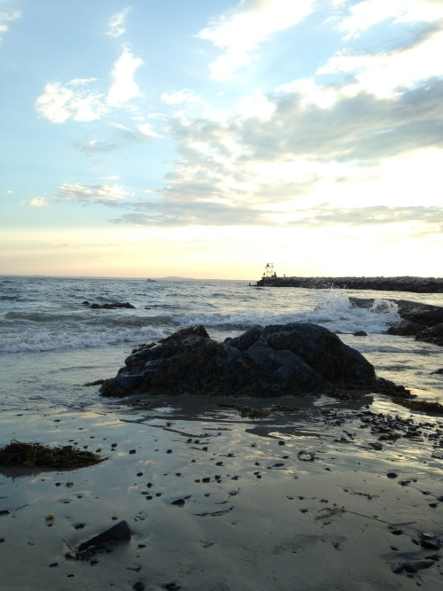 Kennebunkport Maine Beach sunset