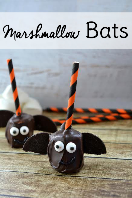 Halloween food can be fun or downright gross! These little marshmallow bats are so cute they double as decorations.