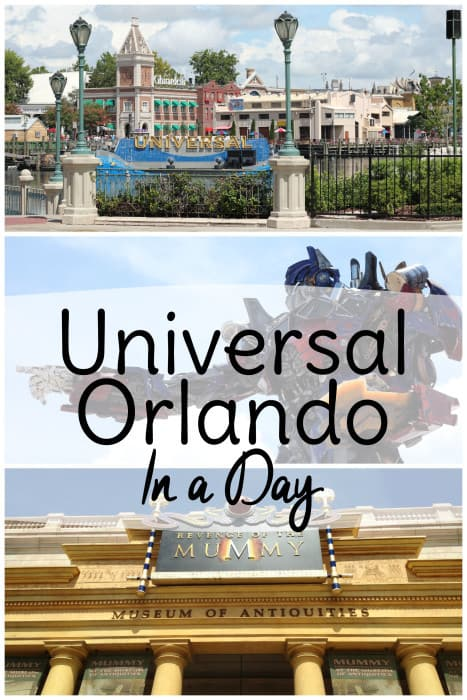 How to see Universal Studios in one day if you are pressed for time during your Orlando vacation!