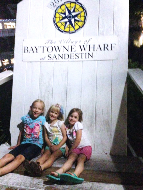 Village of Baytowne Wharf giant Adirondack chair