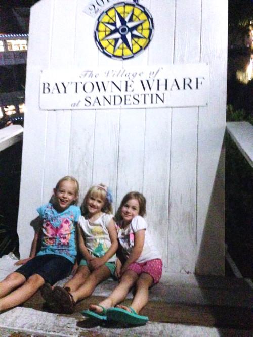 Village of Baytowne Wharf giant Adirondack chair