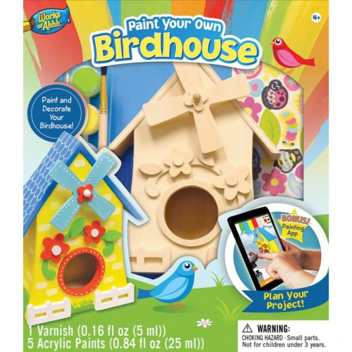 Paint your own birdhouse kit crafts for 5 year olds
