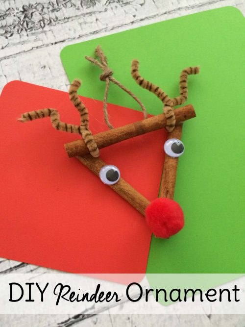 Homemade Reindeer Ornament. Make this DIY <a href=