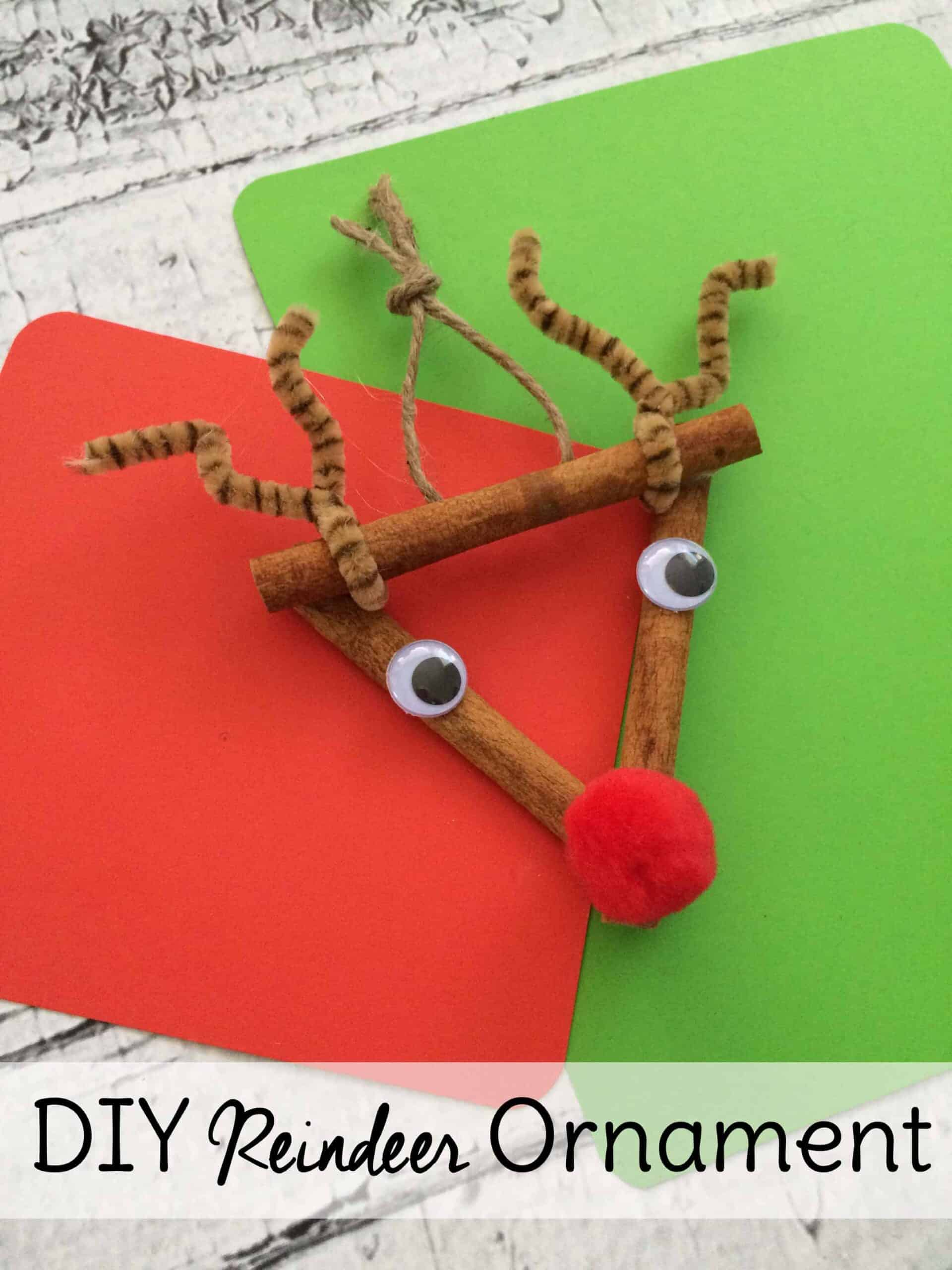 Homemade Reindeer Ornament. Make this DIY Christmas ornament craft with your kids for some holiday fun.