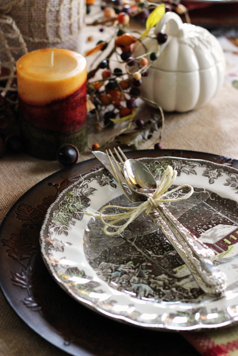 Thanksgiving decorations place setting ideas