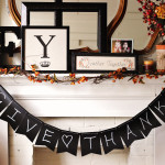 Beautiful fall mantle perfect for Thanksgiving or autumn.