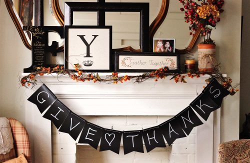 Fall home tour with a beautiful fall mantle perfect for Thanksgiving or autumn.