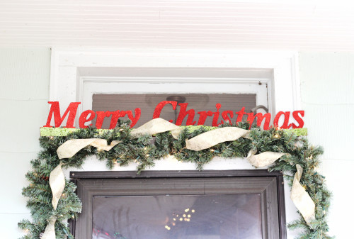 merry christmas glitter sign holiday home tour