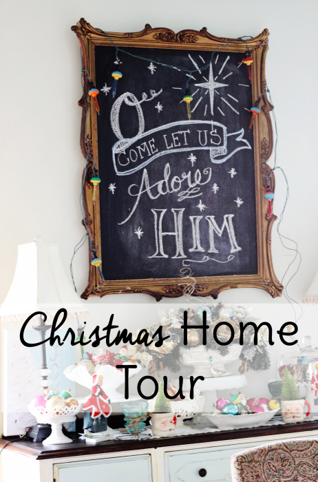 Learn how to How to Decorate Your House for Christmas with Vintage Flair with this christmas home decor tour! |Home Tour 2015