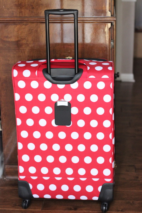 Spinner wheel suitcase for women polka dot disney minnie mouse