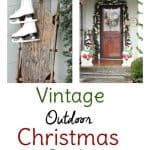 Vintage Christmas Decorations for Outside