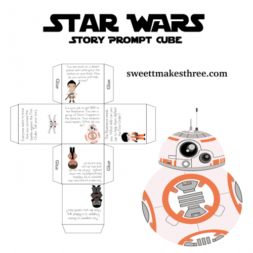 free star wars printable story cube