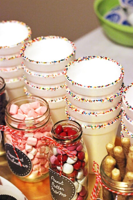 Easy Ideas For A Hot Chocolate Bar Sweet T Makes Three