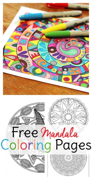 Mandala Coloring Pages for Adults Sweet T Makes Three