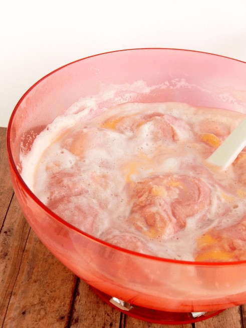 pink punch in a bowl